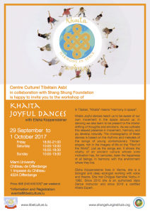 Tibetan dance workshop: Khaita Joyful Dances @ Miami University, Château de Differdange | Differdange | District de Luxembourg | Luxembourg